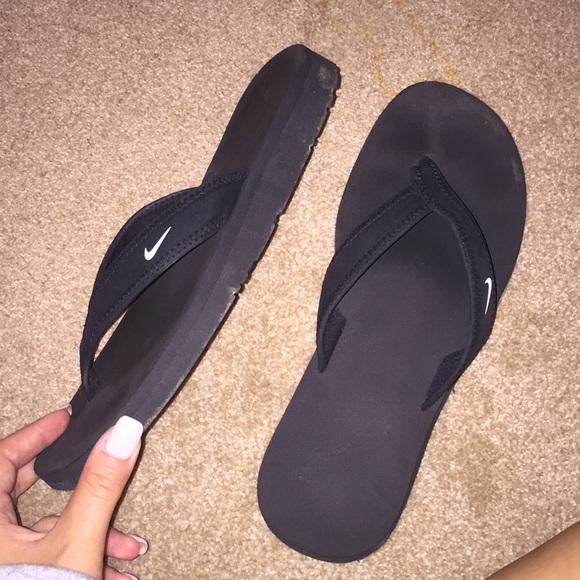 Black Nike Flip Flops | Poshmark